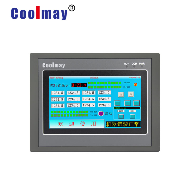 Coolmay MX2N-43HB-24MT 4.3'' Programmable Intelligent Controller Plc With Touch Panel Hmi Integrated
