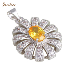 hot deal buy charismatic pendants fashion jewelry yellow topaz necklaces pendants for womens p278