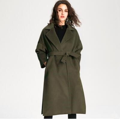 Trench   Coat for Women 2018 Streetwear Covered Button Spring/Autumn Long Coat Women's Overcoat with Pocket