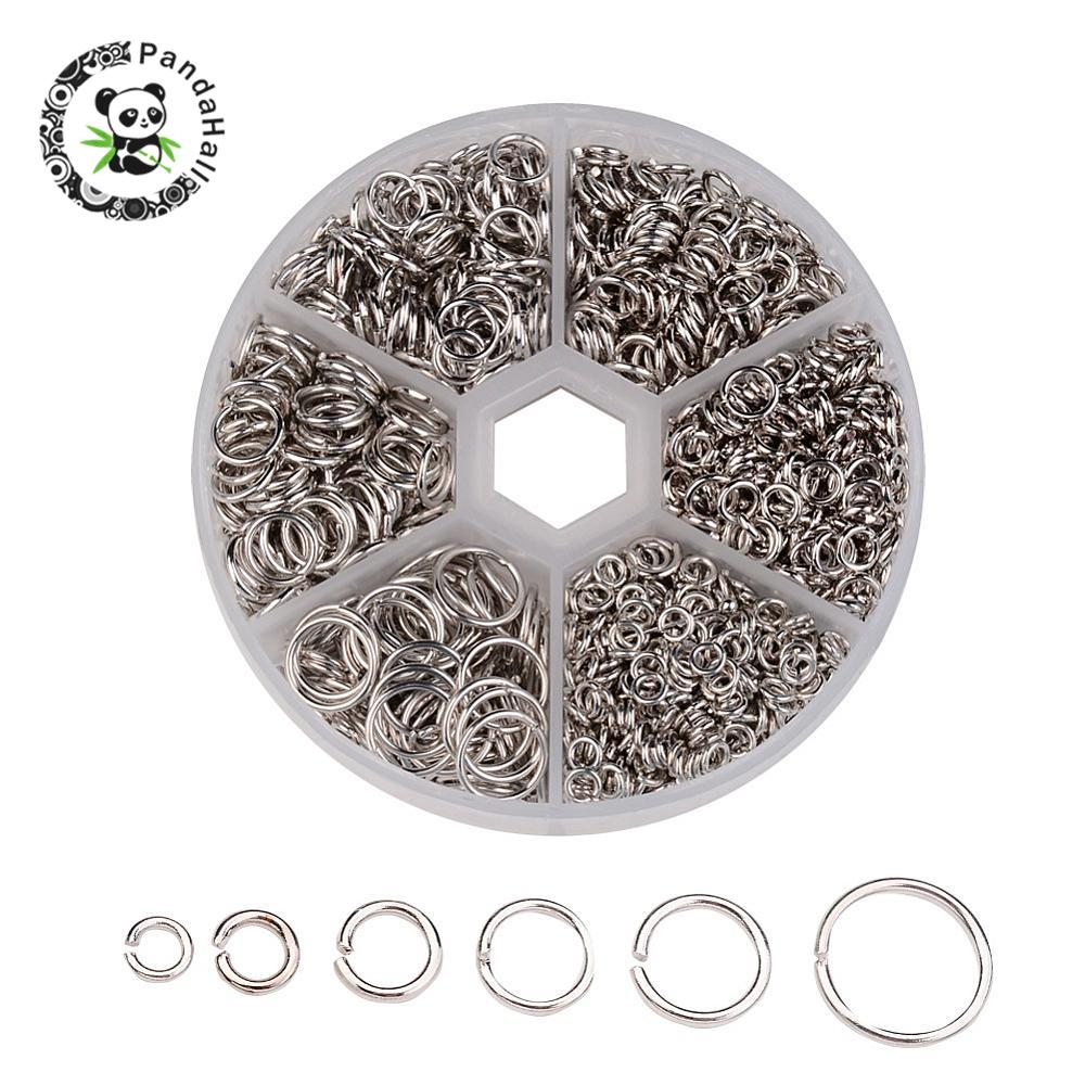 Iron Jump Rings For Jewelry Making DIY Metal Findings Red Copper Antique Bronze Nickel Free Mix Sizes 4~10x0.7~1mm,1745pcs/box