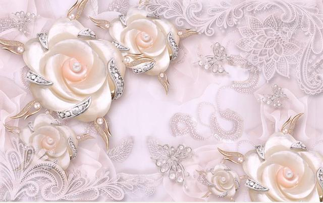 Alibaba グループ   AliExpress.comの 壁紙 からの 暖かいピンク真珠3d壁画壁紙カスタム3d
