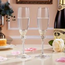Wedding Wine Glasses For love crystal champagne flutes Creative toasting champagne wine glasses White pearl enamel gift set