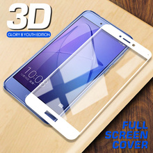 3D HD Full Cover Tempered Glass For Huawei Honor 8 Lite 9 10 Screen Protector on the for Honor 10 9 8 lite Glass Protective Film protective glass red line for huawei honor 9 lite full screen black