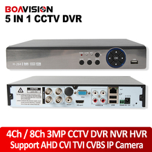 5 W 1 4MP XVR CCTV 4Ch NVR 8Ch AHD DVR 1080 P Hybrydowy Rejestrator DVR Kamera Bezpieczeństwa Onvif 3MP APARAT 5MP RS485 Kontroli Coxial P2P chmura