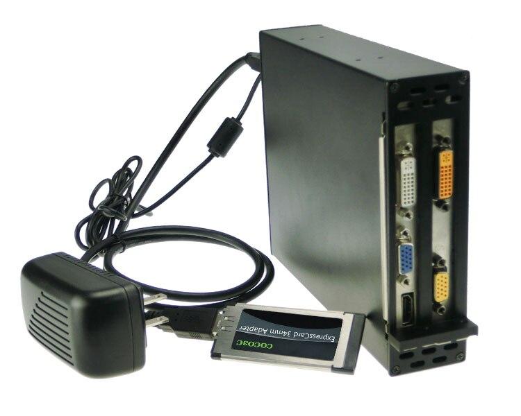 Expresscard 34 To 2 PCI Express 16x slots adapter font b Laptop b font connect PCI