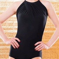 Hot Sale Latin Dance Leotard For Ladies Black Colors Braces Skirt Favor Women Modern Presentation Ballroom Shirts Costumes B023