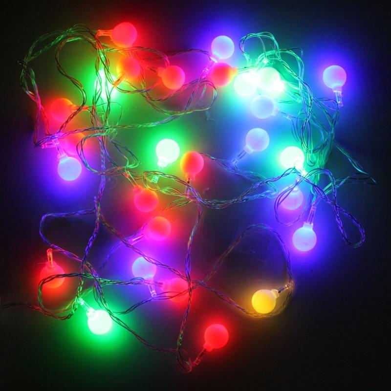 2 M / 20 LEDs Outdoor Christmas Lights Decorative Indoor Lamps Garden Lights Lamp lanyard lanyard 3 * AAA festive battery