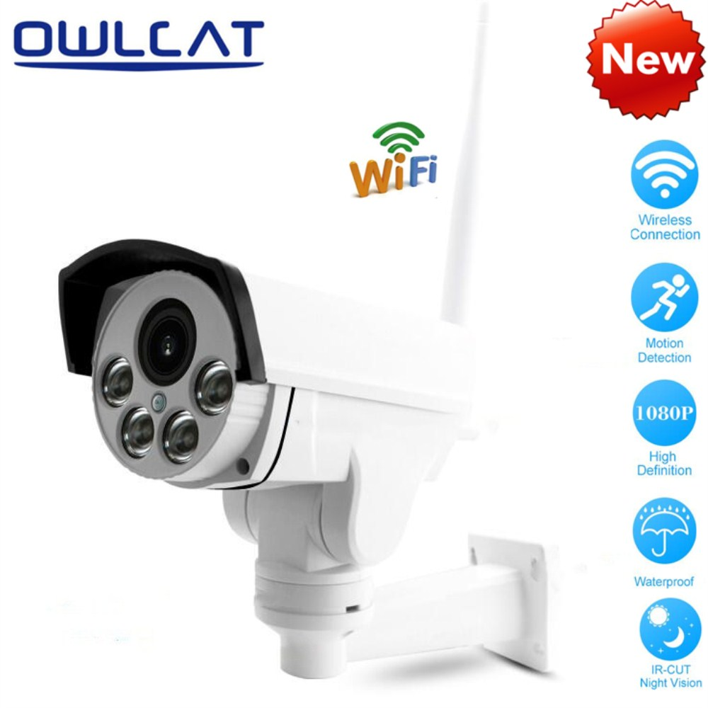 OwlCat Home Security IP Camera Wireless WiFi Camera Surveillance Full HD 1080P Night Vision Outdoor 5X Zoom 2.7-13.5mm CCTV Cam vstarcam outdoor ip camera 1080p full hd wifi dome ir night vision 4x zoom waterproof cctv security video surveillance camera