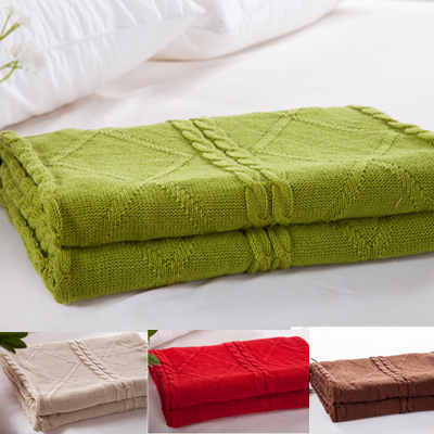 180x200cm Full size plaid knitted blanket,Green Color Baby sofa Blankets,100% Cotton picnic quilt knitted bedding blanket180x200cm Full size plaid knitted blanket,Green Color Baby sofa Blankets,100% Cotton picnic quilt knitted bedding blanket