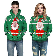 ZOGAA Christmas Hoodies Santa Claus 3d Printed Hoodies Men Women Baseball Hoodie Couple Oversized Green Hooded Sweatshirt santa claus 3d printed christmas sweatshirt