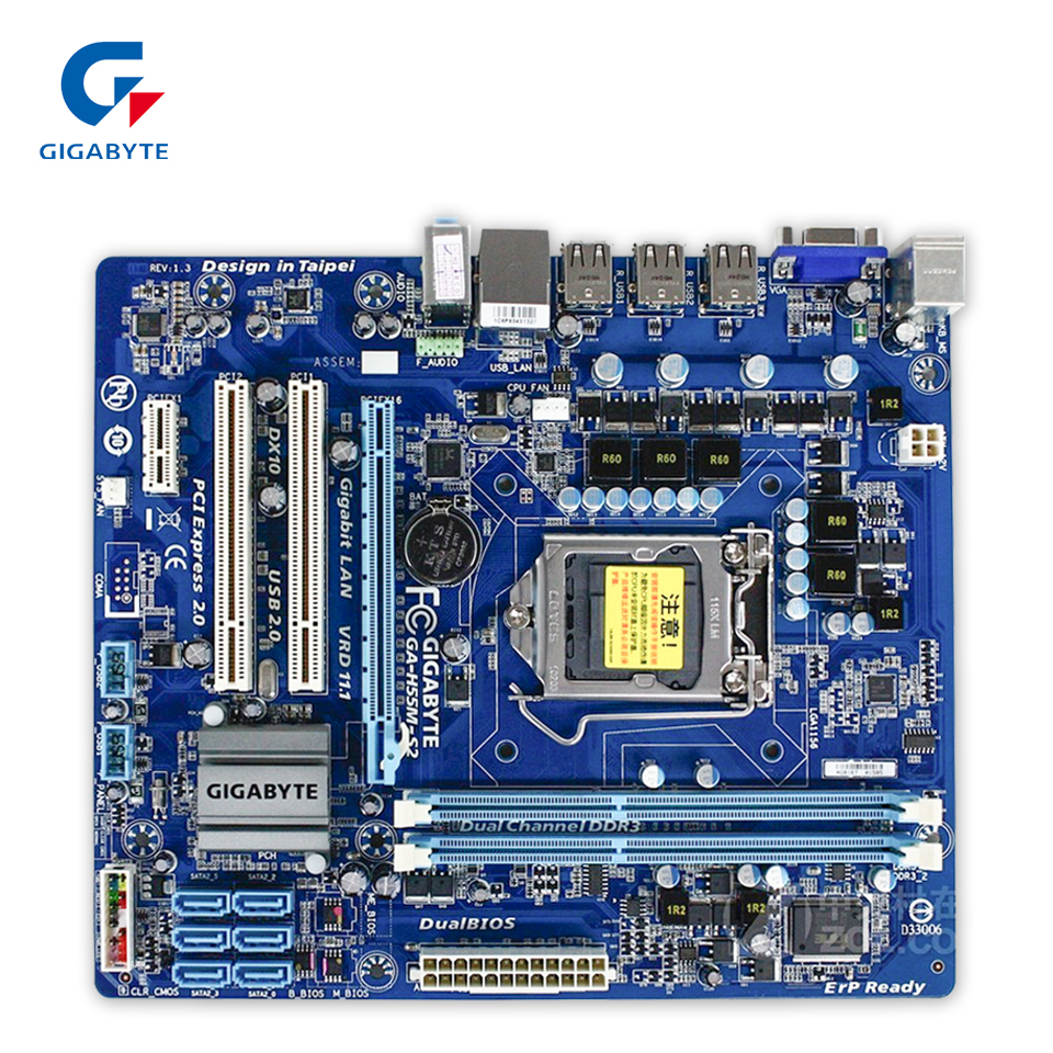 Original Gigabyte GA-H55M-S2 Desktop Motherboard H55M-S2 H55 Socket LGA 1156 DDR3 Micro-ATX 100% Fully Test original gigabyte ga 945gzm s2 desktop motherboard 945gzm s2 945gz socket lga 775 ddr2 micro atx 100% fully test