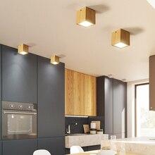 Современные светодио дный светодиодные потолочные светильники для гостиная спальня Indoor осветительное оборудование дизайн дерево круглый квадратный потолочный светильник