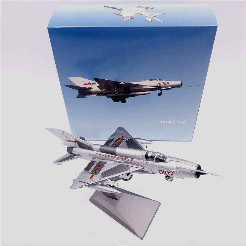 rare Special Offer 1 72 China Air Force J7 MiG 21 Series Fighter Model alloy Collection