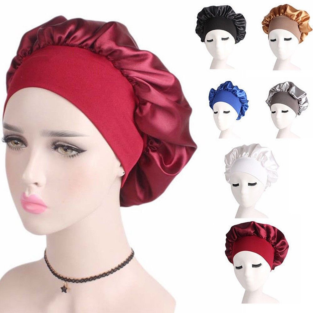 Women Satin Headscarf Sleeping Bonnet Hair Wrap Silk Cap Fashion New   Skullies     Beanies   Night Sleep Hat Hair Loss Cap Head Wraps