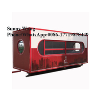 4.6m container model churro machine and fryer /gas conveyor pizza oven car / mobile food truck for fried chicken beer snack