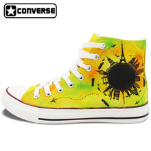 Sneakers Men Women Converse All Star Original Hand Painted Shoes Design Travel World Famous Landmark Stylish Gifts