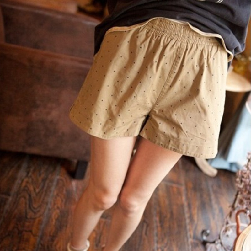 Kawaii Shorts Japan Style Summer New Casual Shorts Elastic Waist Belt Cotton Dot Shorts Hot short