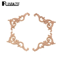 RUNBAZEF Real Wood Corner Flower Carved Pieces of Furniture