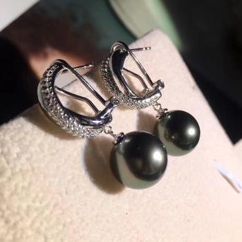 European S925 Silver Pearl Earrings Findings Drop Earrings Settings Mountings Parts Mounts for Wedding Gift Bridal Women