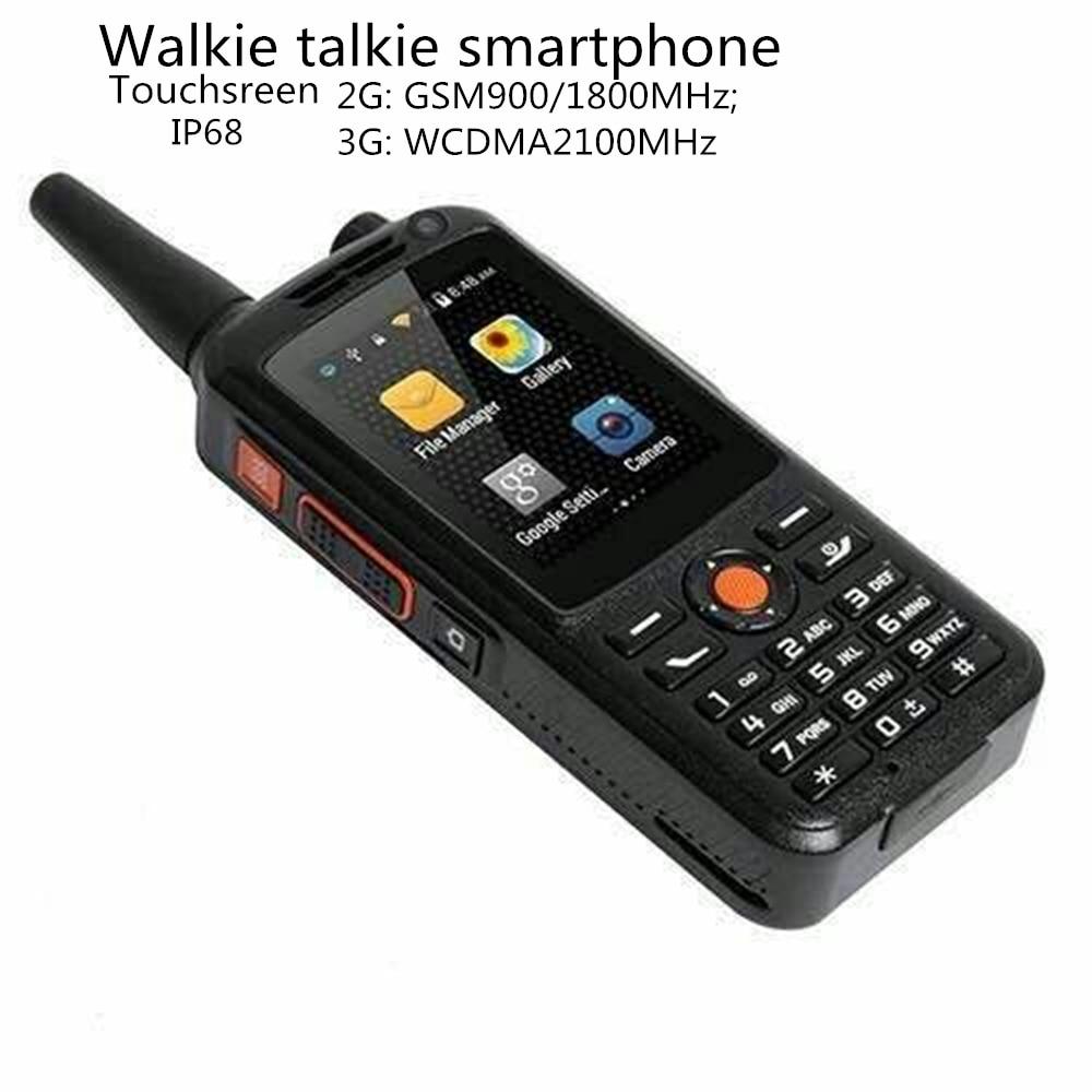 bilder für Original 3G WCDMA IP68 F22 Wasserdichte Smartphone Walkie Talkie GPS Wifi Dual-SIM-Handy 5MP Zello Walkie Sprechen Android Smartphone
