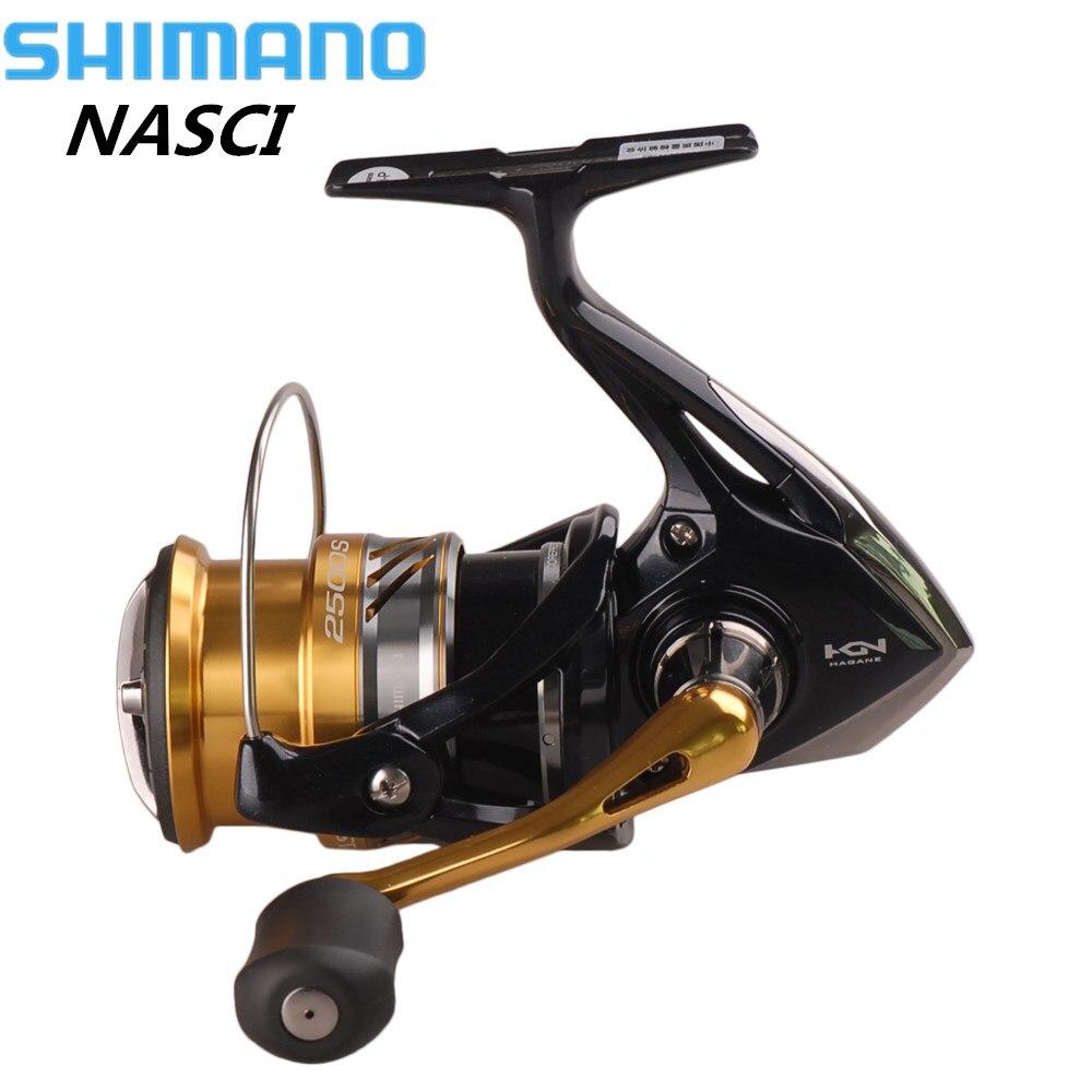 Shimano NEUE NASCI Spinning Angeln Reel Hagane Getriebe Carretilhas De Pescar Molinete Peche X-Schiff Salzwasser Karpfen Angeln Coil
