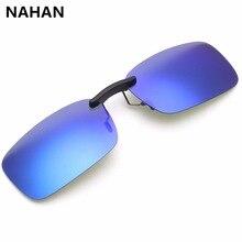 Clip Sunglasses Fashion Style Men's Anti-Reflective Clip-on Flip up Metal UV400 Driving Travelling Lenses Sunglasses