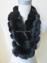 Free shipping/real100% complete  rabbit  fur  handmade new  Fishtail scarf /neckerchief /black
