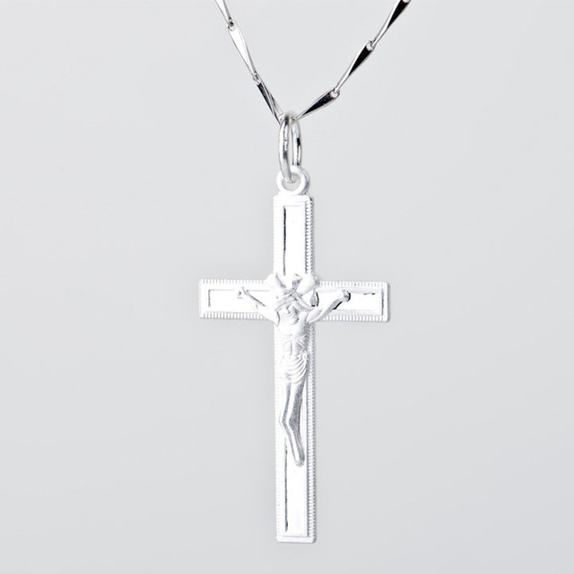 pure faith 100%guaranteed s925 sterling silver Jesus Cross pendant&necklaces prayer love beautiful jewelry for people gift N0045