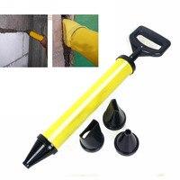 Edelstahl Kartuschenpistole Zeigt Ziegel Mörtel Mörtel Sprayer Applikator Werkzeug für Zement kalk 4 Düse-in Handwerkzeug-Sets aus Werkzeug bei