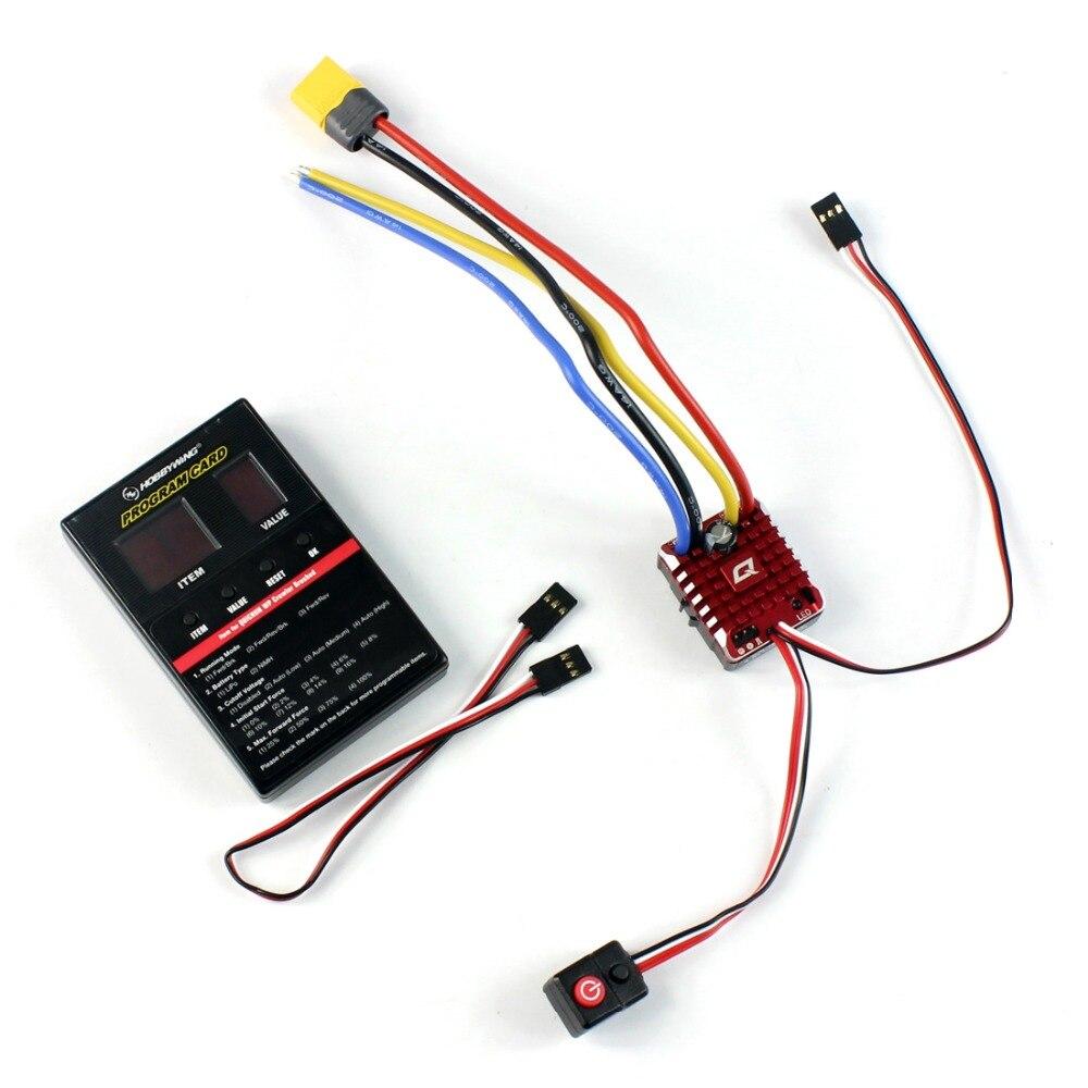 Hobbywing QuicRun WP contrôleur de vitesse sur chenilles imperméable à l'eau brossé ESC 2 3 S Lipo avec BEC de carte de programmation pour voiture 1/10 1/8 RC-in Pièces et accessoires from Jeux et loisirs    1