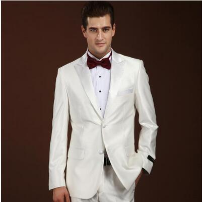 Customize Tailored made White Black Grey Tuxedo mens wedding suits ...