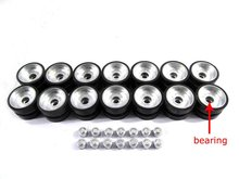 Mato metal road wheels with bearings caps and rubber treads for Heng Long 1 16 2.4G American M1A2 Abrams 3918-1 tank rc tank
