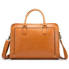 Genuine Leather Messenger for Men 13 Inches Laptop Handbag Bag Business Briefcase Shoulder Cross Body Casual Tote Neweekend
