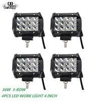 CO LIGHT Led Work Lights 36W Led 12 V 24V for Atv Tracks Tatra Mining Farm Niva Uaz Kayar Led 6000K 9 32V 4inch Led Spotlight