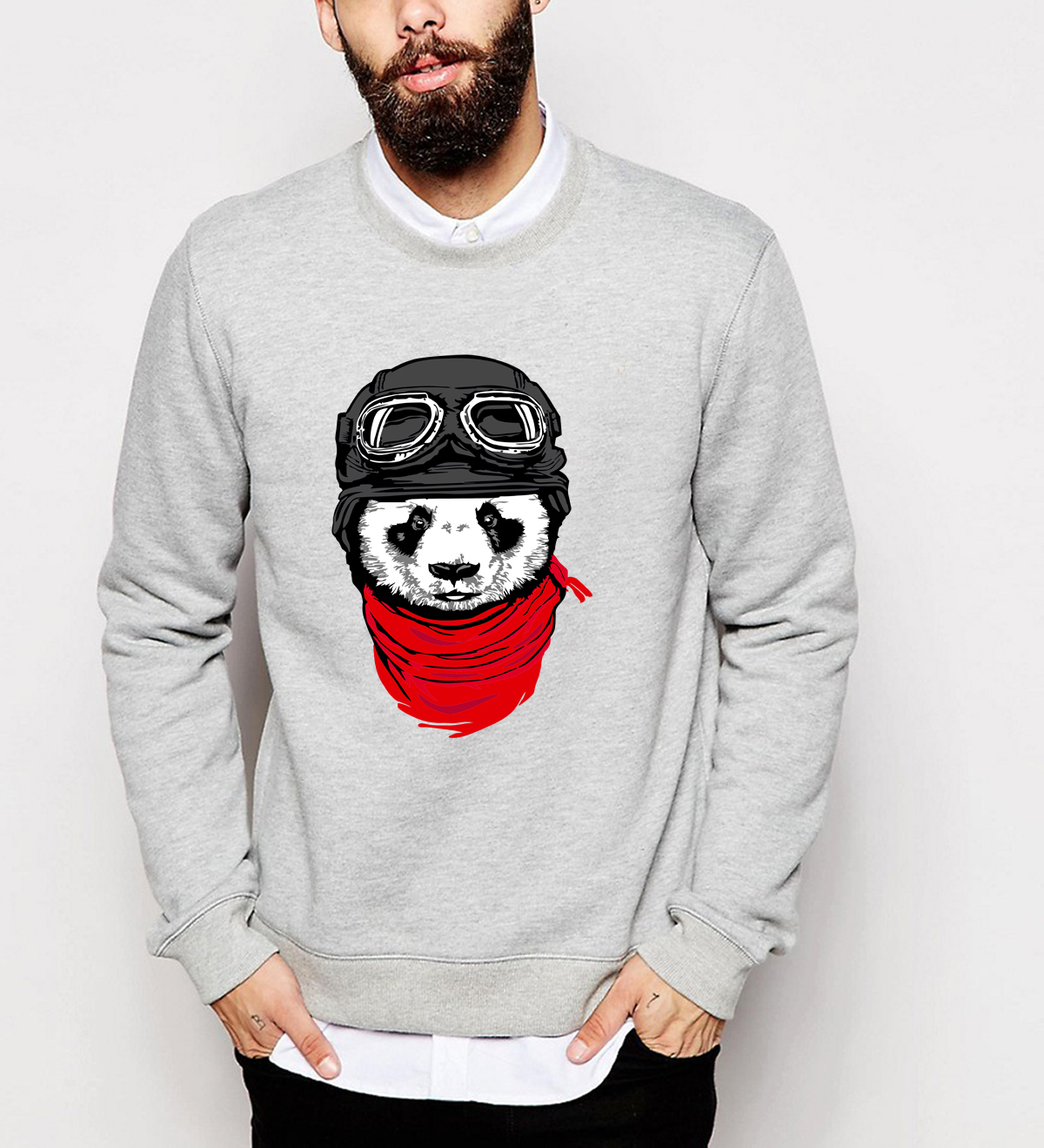 The Adventurer Cat Panda print hoodies men 2019 fall winter fashion brand sweatshirts male hip hop harajuku tracksuits