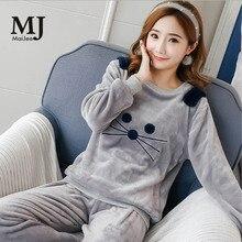 MJ038A Winter kawaii Pizama Damska Pijama De Animal Thick Pyjama Flannel Kigurumi Pijamas Mujer Feminino Pigiama Donna