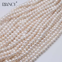 Natural Freshwater 8-9mm Pearl Beads Punch Loose Beads For DIY Women Elegant Necklace Bracelet Jewelry Making недорого