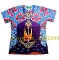 Flores Frida crânio de impressão 3d t camisa dos desenhos animados t camisa t homens / mulheres camisa masculina