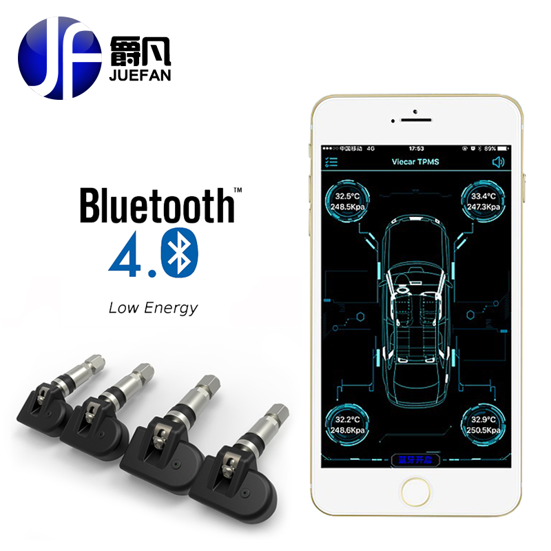 Profession monitor Tyre Pressure Monitoring System Smart Car font b TPMS b font Bluetooth wireless car