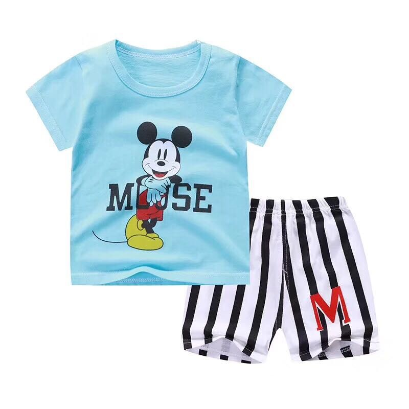 95960512517bd US $2.0 |New Baby Boy Summer Mickey Clothes Infant Newborn Boy Girl  Clothing Set Sports Tshirt+ Shorts Suits-in Clothing Sets from Mother &  Kids on ...