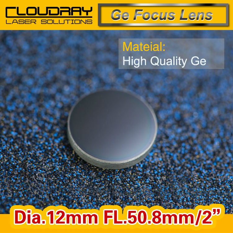 High Quality Ge Focusing Lens for CO2 Laser Engraving Cutting Machine  DIa. 12mm Focal 50.8mm 2 Free Shipping hot sell high quality cw3000 water chiller cooling laser tube for laser machine