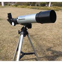 Alta qualità 360/50mm monoculare telescopio astronomico spotting esterna telescopio con il treppiedi miglior regalo di natale per i bambini