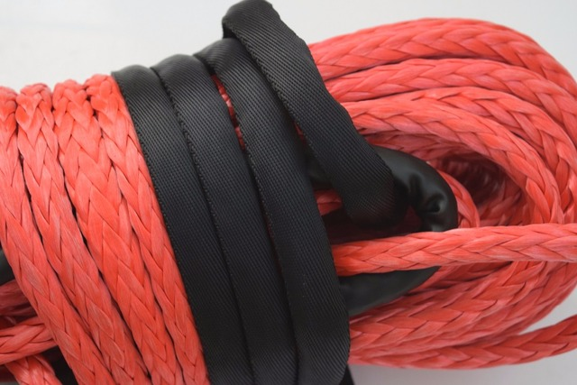 Red 14mm*45m Synthetic Rope,UHMWPE Winch Rope,ATV off-road Racing Rope.Kevlar Winch Cable 1
