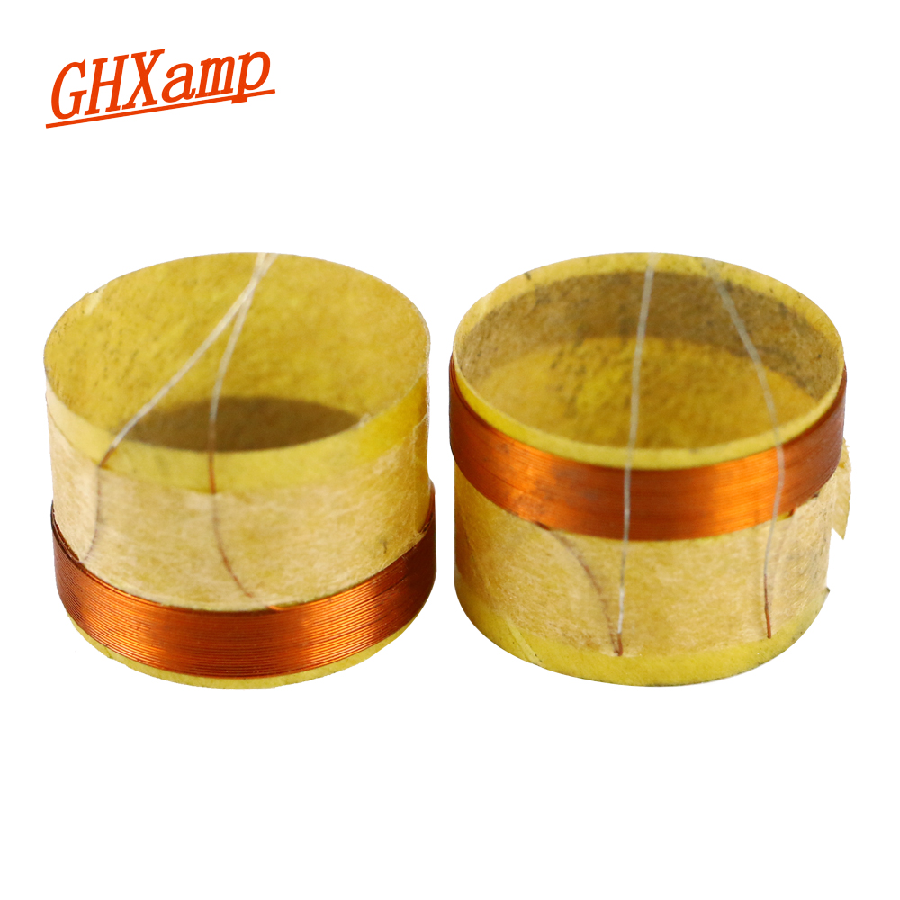 GHXAMP 14.28mm Tweeter Voice Coil 4ohm Speakers Repair Parts High Power For 3 Inch KTV Card Box Treble Speaker Silver Wire 2PCS