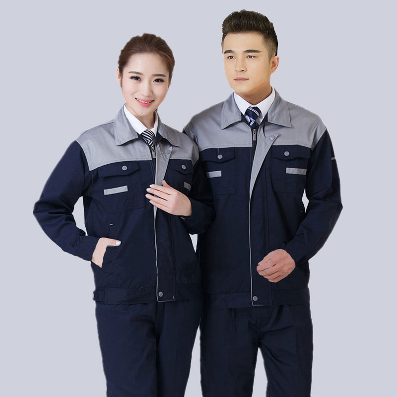 Age Season Long Sleeve Auto Repair Clothes Suit Men's And Women's Mechanics Workers On The Factory Floor Wear-resisting Thick