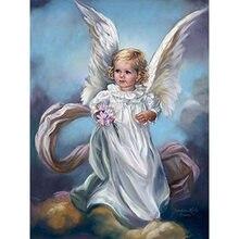 Yikee вышивка алмаз полный ангелов Настенный декор квадрат горный