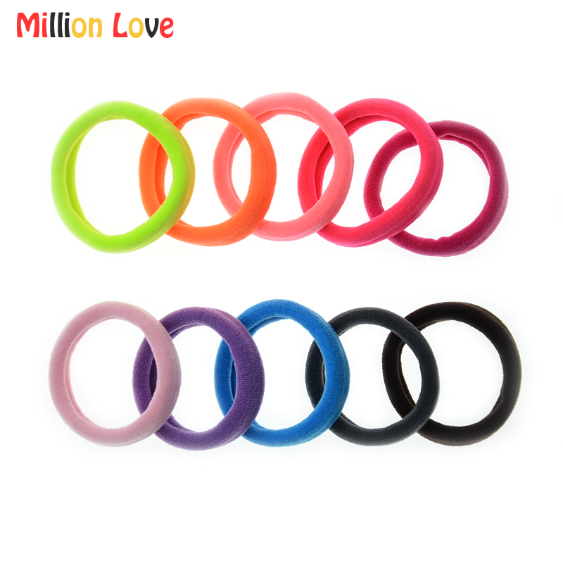 10 Pieces/lot Million Love Baby kids girl Elastic hair Bands hair Ponytail rope hair accessories bebes headwear children girls ...