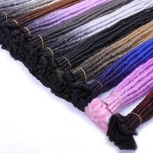 Handmade Dreadlocks Hair Extensions 24 inch Reggae Crochet H