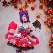 New Love Live Honoka Kotori Umi Eli Nozomi Maki Rin Hanayo Nico Devil ver cos Dress Cosplay Costume Halloween costume demon