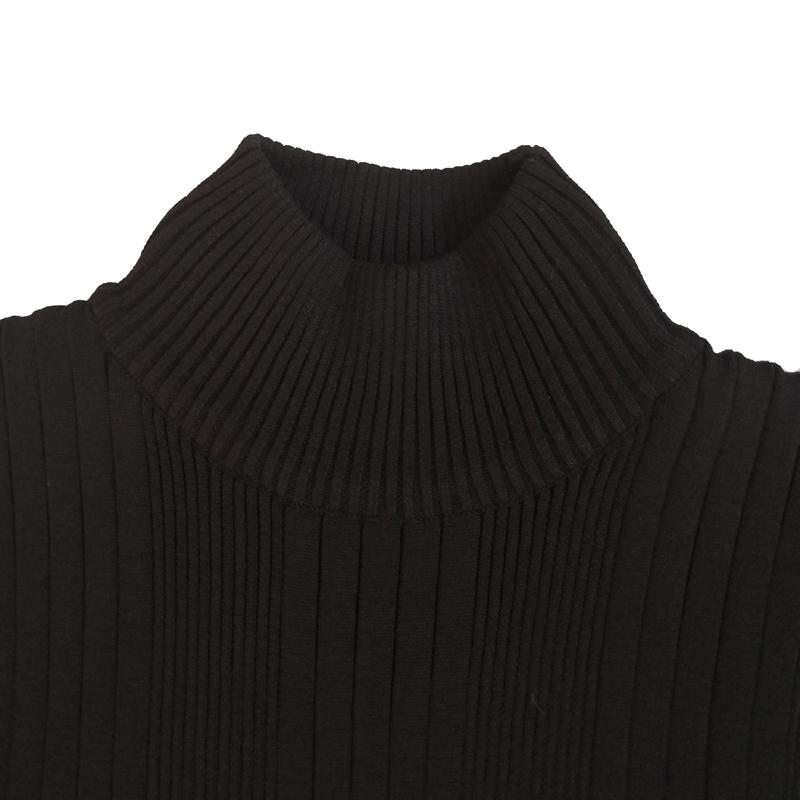 Knitted Long Sleeve Men Mock Neck Sweater Bboy Mocknecks Pullover